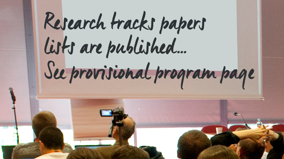 Research Tracks Papers announce